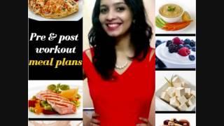 Pre & post workout meal plan