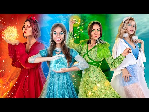 Fire Girl, Water Girl, Air Girl and Earth Girl / Four Elements Beauty Pageant!