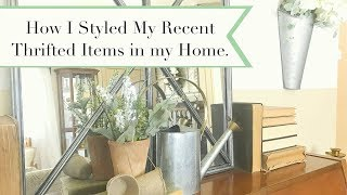 How I styled My Recent Thrifted Items in My Home
