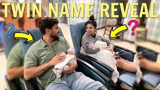 OFFICIAL TWINS NAME REVEAL!!! (THEIR NAMES ARE...)