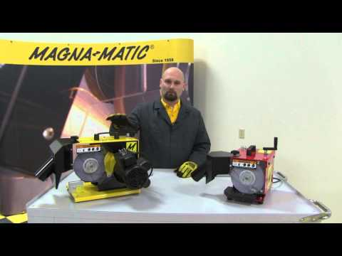Differences between the Magna-Matic MAG-8000 and MAG-9000 Lawnmower Blade Sharpeners (видео)
