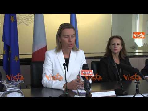 Ny Mogherini nostro sforzo contro isis non e militare
