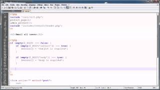 PHP Tutorials: Register&Login (Part 22): Mass Email Users (Part 2)