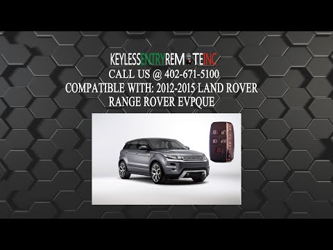 How To Replace LandRover RangeRover Evogue  Key Fob Battery 2012 2013 2014 2015