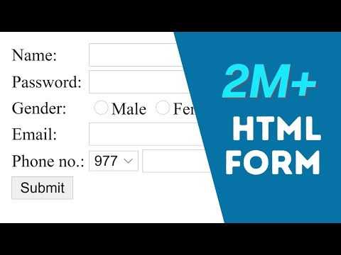 How To Create Registration Form In HTML - Easy Step