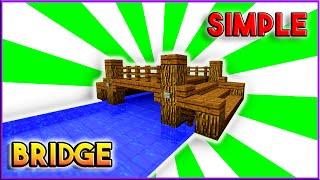 Minecraft: How To Build A Bridge Tutorial (Simple, Easy & Efficient)