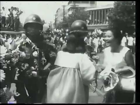 1966년 9월 파월 백마부대 환송