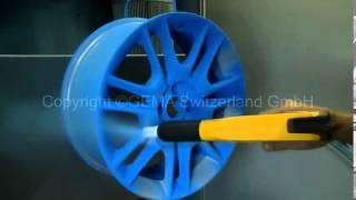 Wheel Powder Coating with OptiFlex2 Manual System