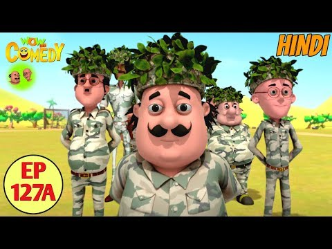 Motu Patlu | Commando Training | Cartoon In Hindi For Kids | Funny Cartoon Video