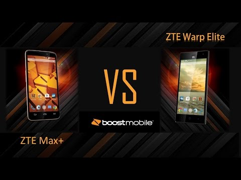 ZTE Boost max+ VS ZTE Warp  Elite ( For Boost mobile ) (видео)