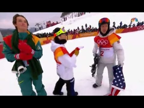 Shaun White wins gold but catches heat for letting American flag drag on the ground