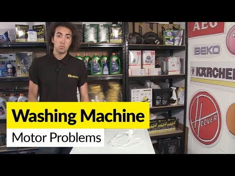 How to diagnose washing machine motor problems