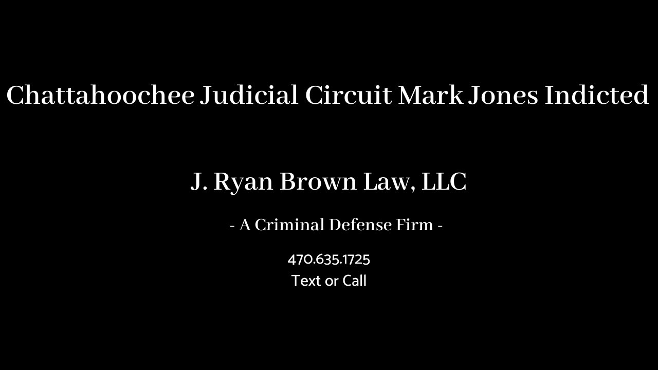 District Attorney Mark Jones Indicted