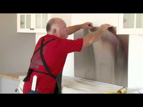 How To Install A Stainless Steel Splashback - DIY At Bunnings