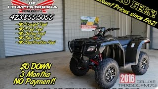 2. 2016 Honda Foreman Rubicon 500 DELUXE EPS ATV Review / Specs | 4x4 FourTrax SALE TN.GA.AL.SC. Dealer