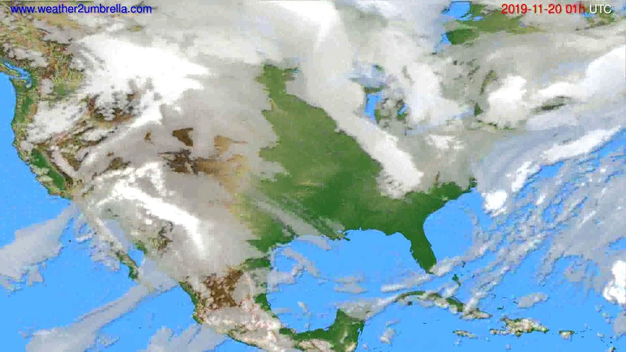 Cloud forecast USA & Canada // modelrun: 00h UTC 2019-11-19