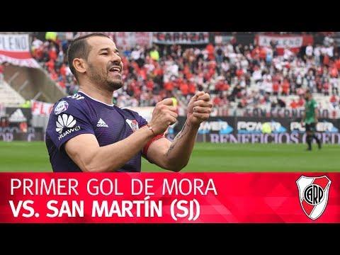 Primer gol de Rodrigo Mora vs. San Martín (SJ)