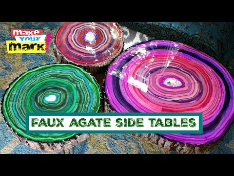 Faux Agate Side Tables