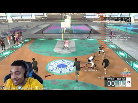 FlightReacts kept composure after hater started acting tuff after parents left to store NBA 2K21