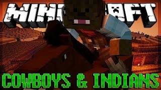 HULK SMASH Minecraft Cowboys and Indians Minigame w/ Bashur, Nooch, and Will!