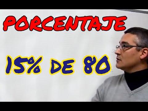 Aprende matemáticas: Calcular el porcentaje de una cantidad