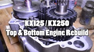 1. How-To: Kawasaki KX125/KX250 Top & Bottom Engine Rebuild 1994-2007