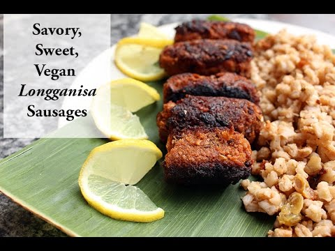 How to Make Vegan Filipino Longganisa Sausages