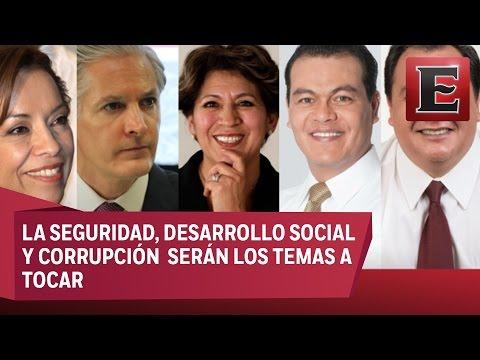 Listos candidatos del Estado de México para el primer debate