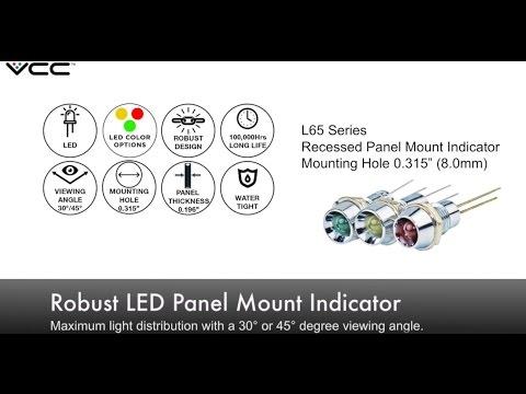 VCC L65 Series Robust LED Panel Mount Indicator