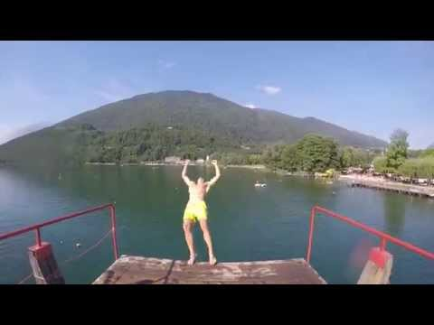 Tuffi al Lago di Levico 2k15 GoPro mountage 60FPS - Parola- (видео)
