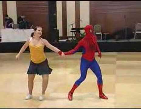 Why Yes, That IS Spiderman Dancing with Mary Jane.