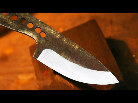 knife - Short tutorial how to make a nice bevel using very simple wood jig.