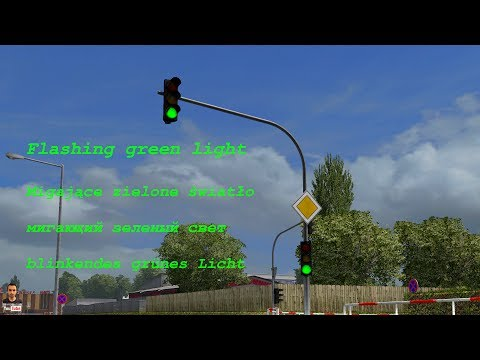 Flashing green traffic light 1.28.x