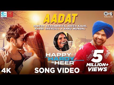 Aadat Official Song - Happy Hardy And Heer | Himesh Reshammiya,Ranu Mondal,Asees Kaur,Rabbi Shergill