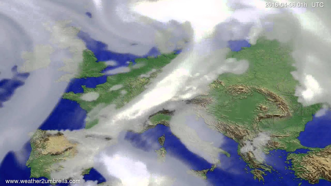 Cloud forecast Europe 2016-04-03