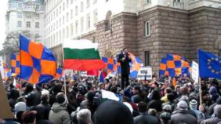 Яне Янев говори на митинг на РЗС - 10 март 2010