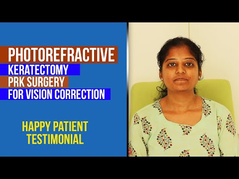 Photorefractive keratectomy (PRK) surgery for vision correction | Refractive Patient Testimonial