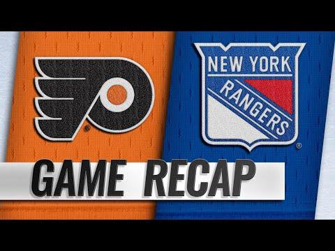 Lindblom, Laughton lead Flyers over Rangers, 6-4