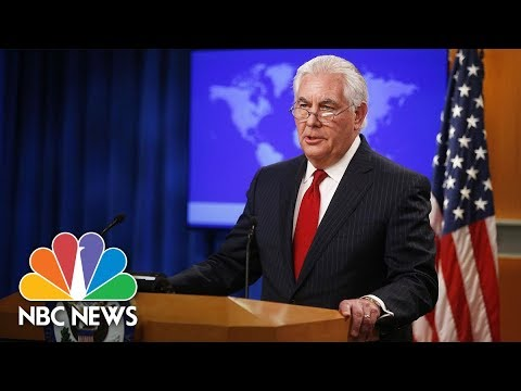 Rex Tillerson Delivers Post-Firing Statement From The State Department | NBC News
