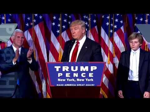 Дональд Трамп – избранный президент США – выступил с речью (видео)