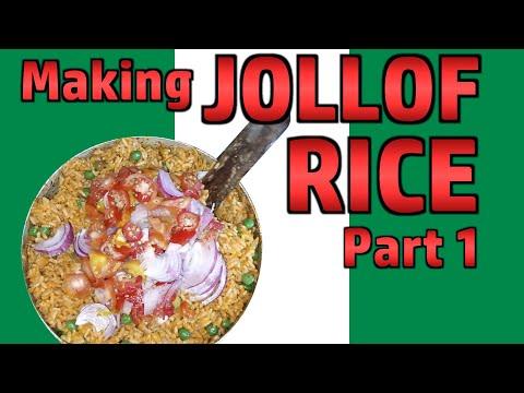 Making Jollof Rice Part 1 - with Babatunde & Family