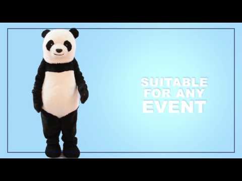 Realistic Panda Mascot Costume