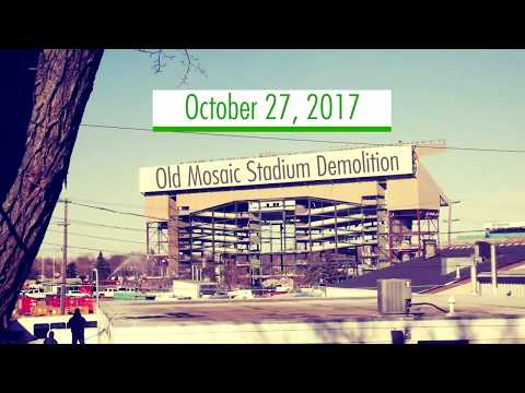 Demolition of Old Mosaic Stadium Taylor Field