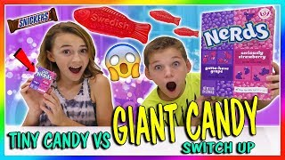 Video TINY CANDY VS GIANT CANDY SWITCH UP   We Are The Davises MP3, 3GP, MP4, WEBM, AVI, FLV Maret 2018