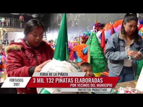 Celebran en Tlalnepantla 1er Feria de la Piñata