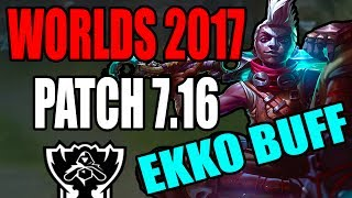 WORLDS PATCH 7.16  EKKO BUFF, TWISTED FATE BUFF, ZIGGS BUFF & XERATH BUFF COMING  League of Legends  Kobe lol  Kobe2408 lolUp coming Skins:1. Program Heimerdinger, Elise, and Kalista2. Mater Arcanist Vladimir3. Nanotech Zac4. Arcade Yorick5. Secret Boss Viktor6. Elderwood Blitzcrank7. Pool Party illaoi, Ahri, Gragas, Bard, and Sivir8. Piltover Customs Rumble=====Make sure to Subscribe, Like, Comment, and Share :) Thank you!=======Donations for Live Stream:1. https://youtube.streamlabs.com/kobe2408Under Ground Free Music:1. Undergroundfreemusic@gmail.comEmail me your music and I will help you promote it. MUST BE COPYRIGHT FREE!Discord Channel Link:1. Discord - https://discord.gg/JnkwBXQFollow me Here:1. Facebook - https://www.facebook.com/akum.sandhu2. Twitter - https://twitter.com/AkumSandhu3. Twitch TV – https://www.twitch.tv/kobesandhu4. Youtube Live Stream - https://gaming.youtube.com/c/HardHitt...5. Instagram - https://www.instagram.com/kobesandhu/Check out my other videos:1. New Lucian OP Korean Pro Build LCS  League of Legends 7.9  Patch 7.9  Brofresco, Phylol, Redmercy, Nightblue3, imaqtpie, and pokimane ain't got stuff on ME!!! LOL - https://www.youtube.com/watch?v=wvI7H...2. NEW Heimerdinger Passive Rework 2017 patch 7.10  League of Legends 7.10 PBE3. *WTF* EKKO 2 HEXTECH ITEMS IS INSANELY STRONG AND WORKS!!  LEAGUE OF LEGENDS 7.9  PATCH 7.94. *NEW* Rework Ezreal PulseFire All Sound Effects and Voice Lines 2017  League of Legends 7.105. *NEW* PulseFire Caitlyn All Sound Effects and Voice Lines  League of Legends 7.10  Patch 7.106. NEW REWORK EZREAL PULSEFIRE SKIN GAME PLAY 2017  LEAGUE OF LEGENDS 7.9  PATCH 7.97. NEW PulseFire Cailtyn Gameplay Skin Spotlight 2017  League of Legends 7.9  Patch 7.9 PBE8. NEW HEXTECH MSI CAPSULE UNBOXING OPENING X50  League of Legends 7.8  Patch 7.89. New Hextech Chest and MSI Capsule Unboxing Opening  Rarest Skins in League of Legends10. PulseFire Cailtyn Teaser Trailer  League of Legends 7.9  Patch 7.9  New Skin Spotlight Ga
