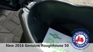 10. 2016 Genuine Roughhouse 50cc scooter for sale