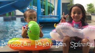 Zara Perosotan di Kolam Renang pakai Ban Spinner 😍 Seru !!! Kolam Renang Anak Anak di Tangerang