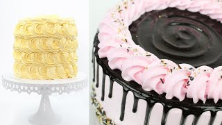 Top 5 Cake Decorating Ideas for beginners with whipped cream | Cake Decorating Compilation