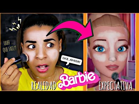 INTENTÉ SEGUIR UN TUTORIAL DE MAQUILLAJE DE BARBIE..
